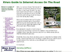 RVers Guide to Internet Access On The Road
