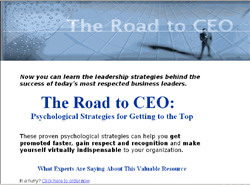 The Road to CEO:Psychological Strategies for Getting to the Top