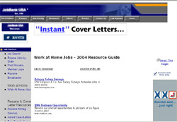 Work At Home - 2003 Resource Guide