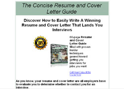 The Concise Resume and Cover Letter Guide