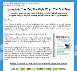 Potty Professor-The Ultimate Guide to Fast Housetraining