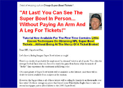 Super Bowl Ticket Secrets