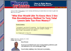 Winners Lay Losers: How To Make Money From Sporting Losers!