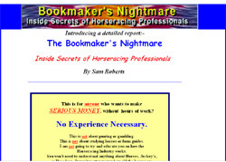 The Bookmaker's Nightmare-Inside Secrets of  Horseracing Professionals