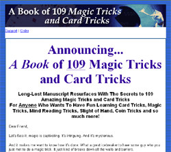 A Book of 109 Magic Tricks and Card Tricks