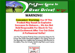 High Power Golf: Finding your distance