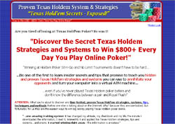 Texas Holdem Secrets: Exposed!