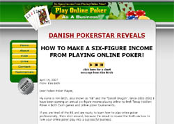 Play Online Poker As A Business!