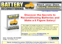 Battery Reconditioning: Start Your Own Niche Business