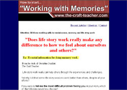Working with Memories