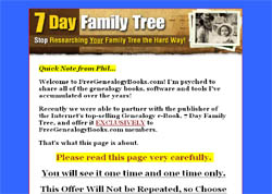 7 Day Family Tree