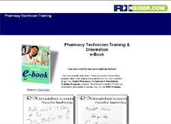 Pharmacy Technician Training & Orientation e-Book