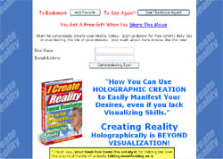 I Create Reality Beyond Visualization: How To Use  Holographic Creations To Manifest Your Desires