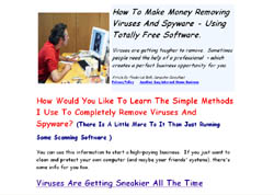 How To Make Money Removing Viruses And Spyware - Using Totally Free Software.