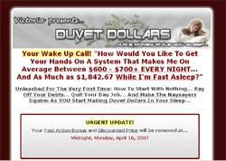 Duvet Dollars