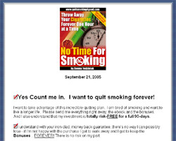 No Time For Smoking - Throw Away Your Cigarettes Forever One Hour at a Time