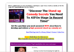Stand-up Comedy Fast Start Guide
