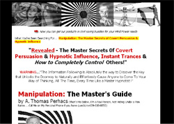 Manipulation: The Master Secrets 0f Covert Persuasion & Hypnotic Influence