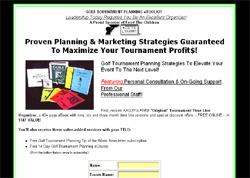 Golf Tournament Planning E-toolkit