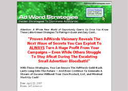 Ad Word Strategies