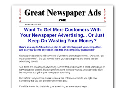 How To Create Great Newspaper Ads