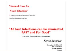 Natural Cure for Yeast Infection