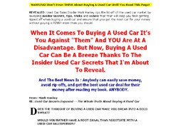 Used Car Secrets Exposed - New!