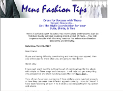 Mens Fashion Tips: Dress For Success