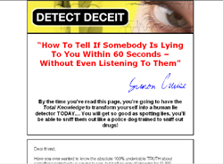 Detect Deceit: Reveal the Truth By Exposing The Lie