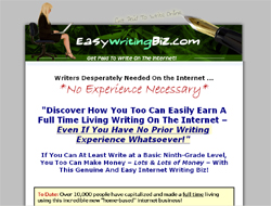 Easy Writing Biz : Make Money Writing Content on the Internet!