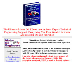 Motor Oils and Engine Lubrication; A Comprehensive Practical and Technical Handbook