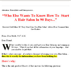 How Anyone Can Start a Hair Salon In 90 Days