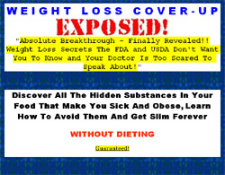Stop Poisoning Yourself and Lose Weight -- Dieting Secrets The Government Doesn't Want You To Know