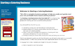 The Starting a Catering Business Start-Up Guide Kit