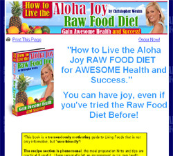 How to live the Aloha Joy RAW FOOD DIET for AWESOME Health and Success
