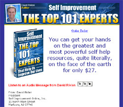 Self Improvement:  The Top 101 Experts That Help Us Improve Our Lives