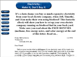 Electricity - Make It, Don't Buy It