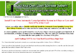 Build An Automatic Lawn Sprinkler System