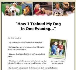 How To Train Your Dog In One Evening