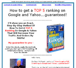 How to get a TOP 5 ranking on Google and Yahoo...guaranteed