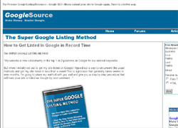 The Super Google Listing Method