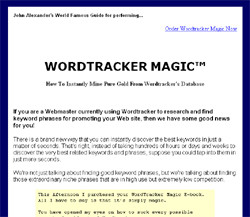 How To Instantly Mine Pure Gold From Wordtracker's Database