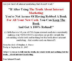 Under Oath - The Truth, The Whole Truth and Nothing But The Truth About Internet Marketing
