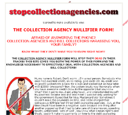 THE COLLECTION AGENCY NULLIFIER FORM!