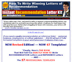 Instant Recommendation Letter Kit