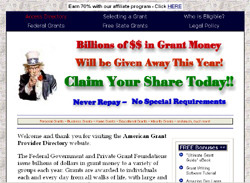 The UncleSamsMoney Grant Directory