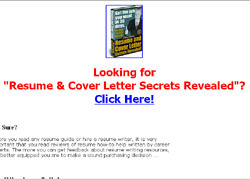 Resume and Cover Letter Secrets Revealed!