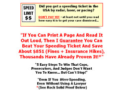 Case Dismissed : How To Beat Your Speeding Ticket