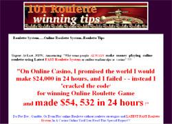 101 roulette winning tips