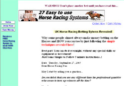 27 Horse Racing Systems